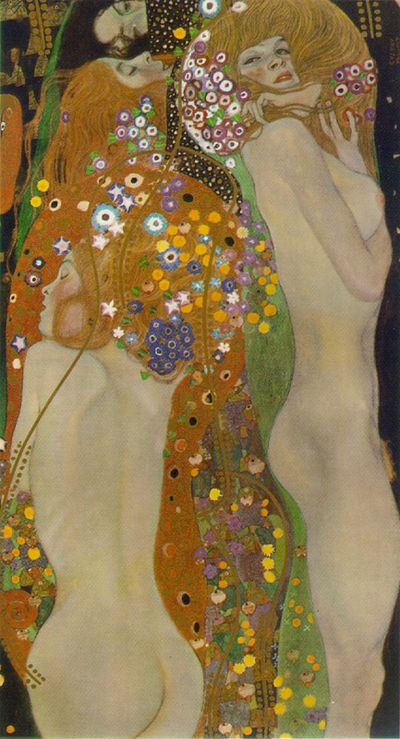 Klimt water serpents